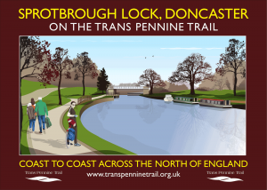Sprotbrough Lock A3 poster